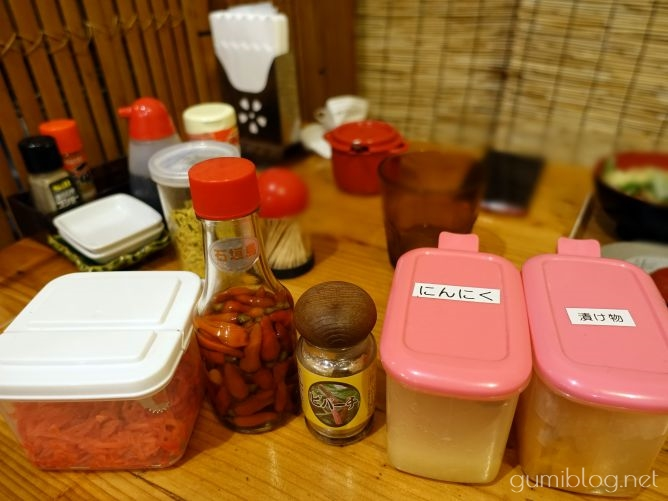 石垣島のあらかわ食堂の調味料