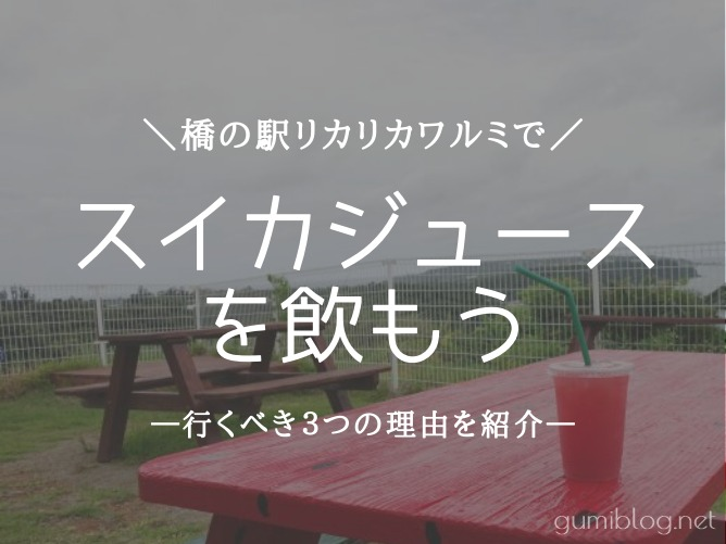 沖縄の橋の駅リカリカワルミでスイカジュース休憩するべき3つの理由
