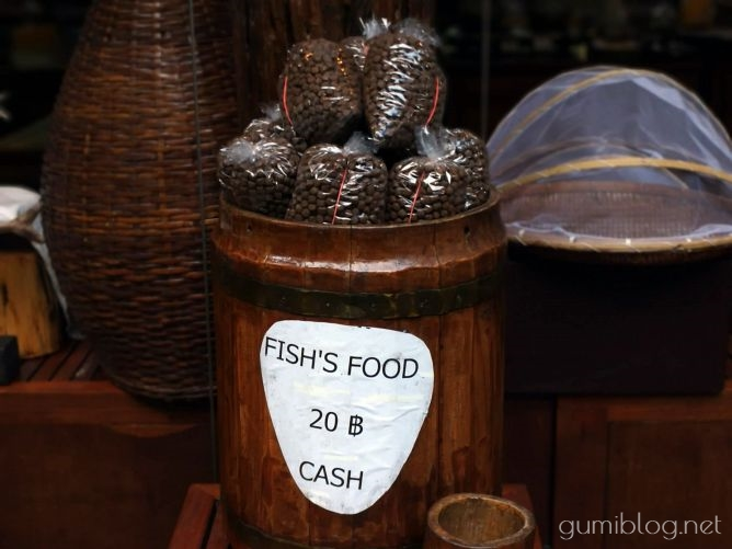 タイ・カンチャナブリの人気水上ホテルで流れ星を見よう!ザ・フロートハウス・リバークワイの魚のえさ
