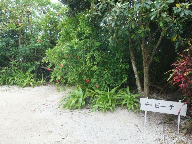 米原ビーチの入り口