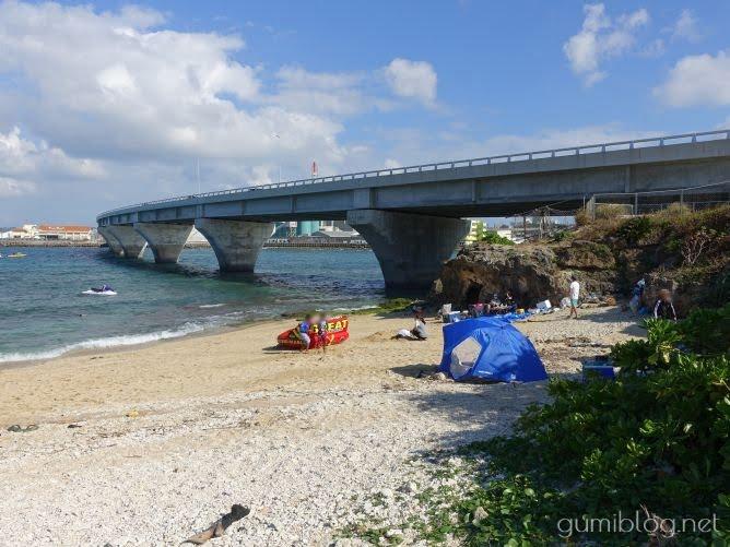 浦添の海「カーミージー」でデイキャンプ