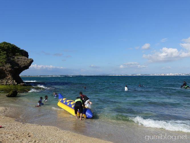 浦添の海「カーミージー」でバナナボート