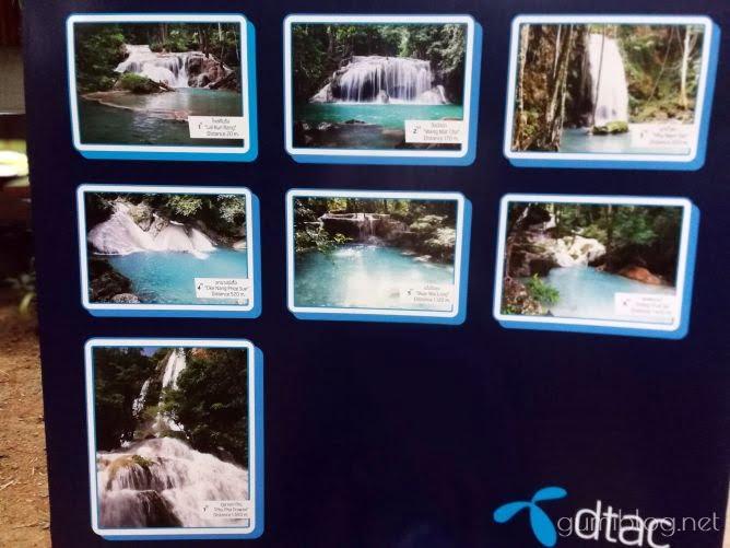 エラワンの滝の7つの滝の詳細