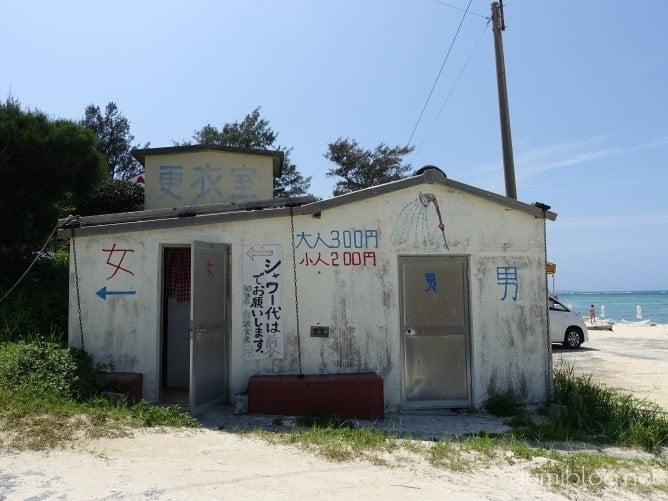 アンチ浜には夏季のみ有料シャワー施設あり