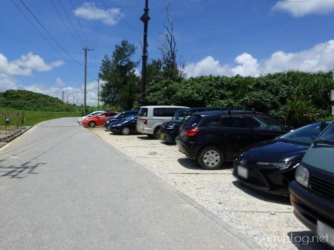 トケイ浜(ピース浜)の無料駐車場